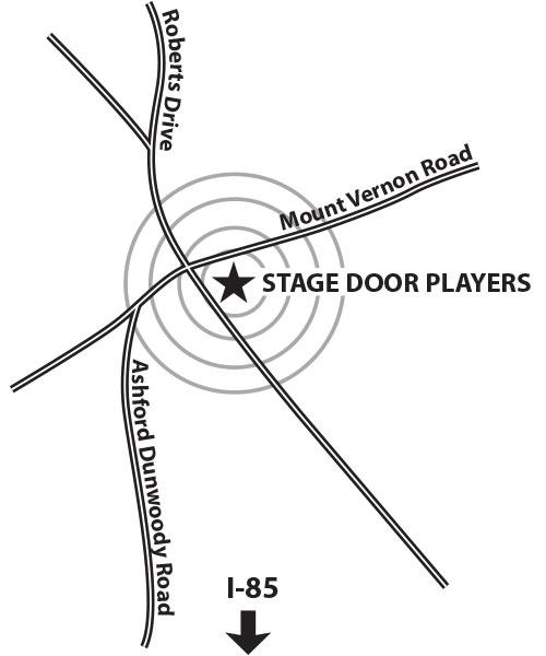 directions to Stage Door Theatre